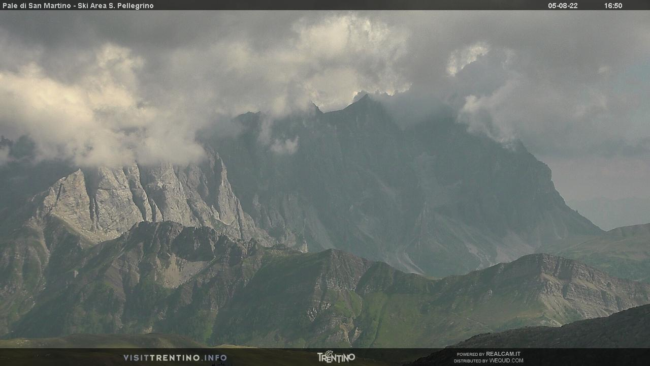 Webcam Pale di San Martino dal Col Margherita - Falcade, Dolomiti Superski,