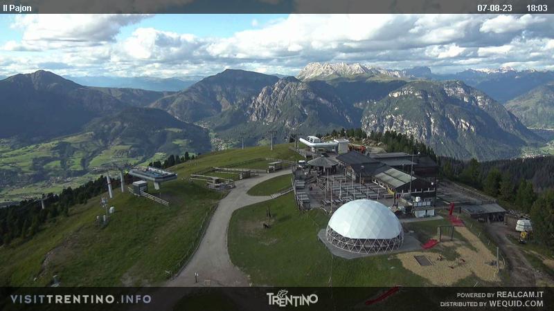 Alpe Cermi Cavalese webcam - II Panoj