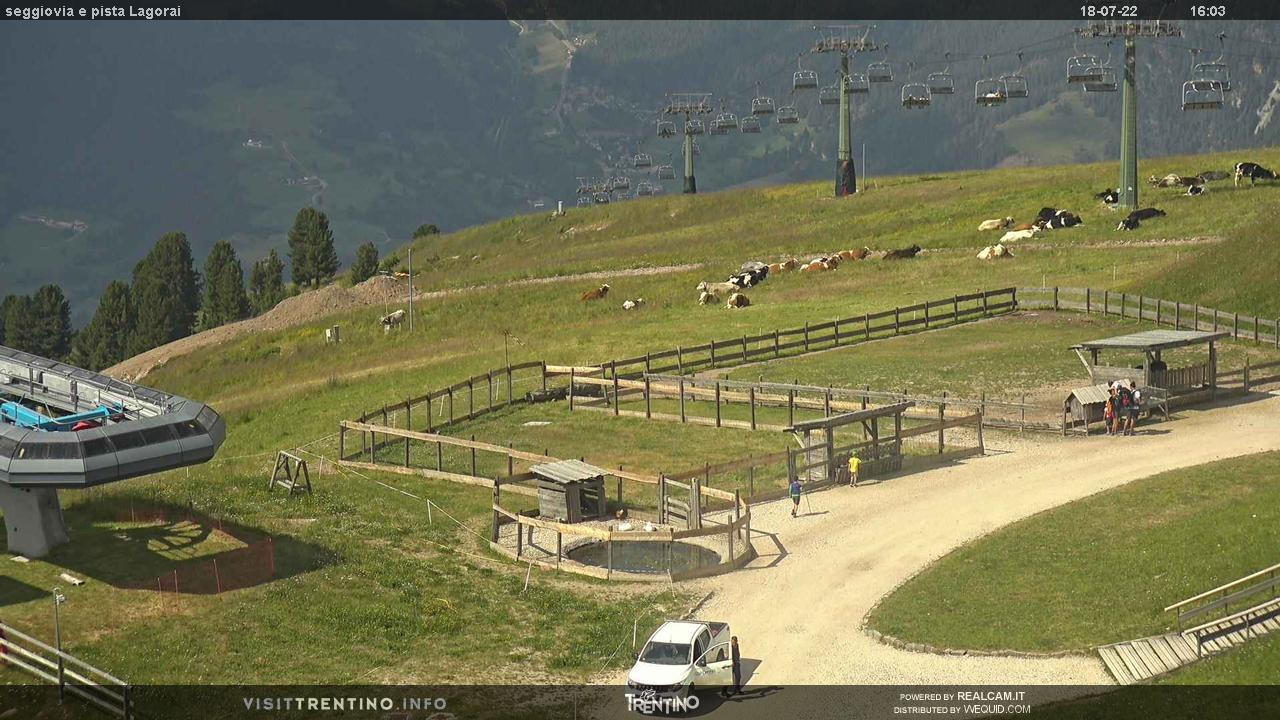 Seggiovia e pista Lagorai - Alpe Cermis