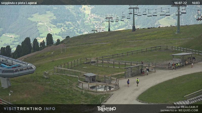 Alpe Cermi Cavalese webcam - ski slope Lagorai