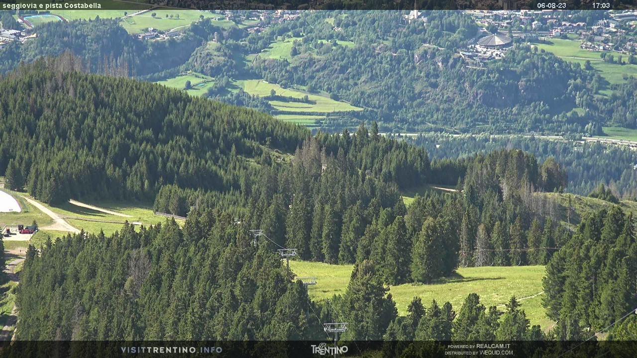 Webcam Seggiovia Costabella - Alpe Cermis, Val di Fiemme