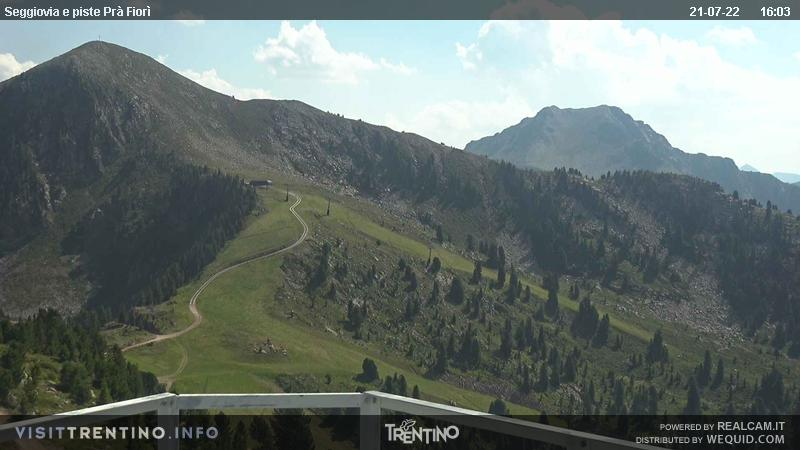 Alpe Cermi Cavalese webcam - Pra Fiori ski station