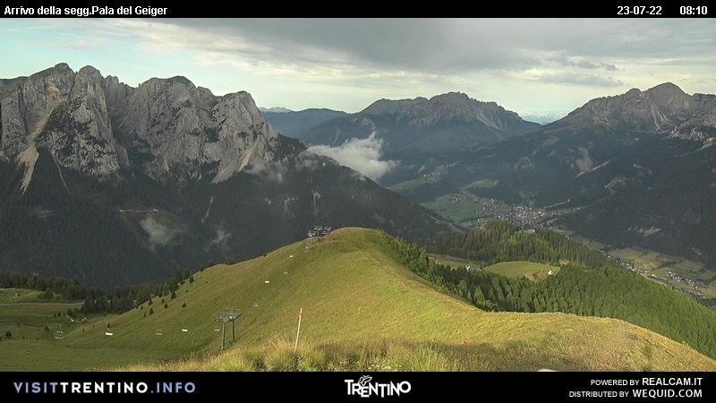Webcam Pozza di Fassa - Buffaure - Altitude: 2.354 metres<BR>Area: Col de Valvacin <BR>Panoramic viewpoint: