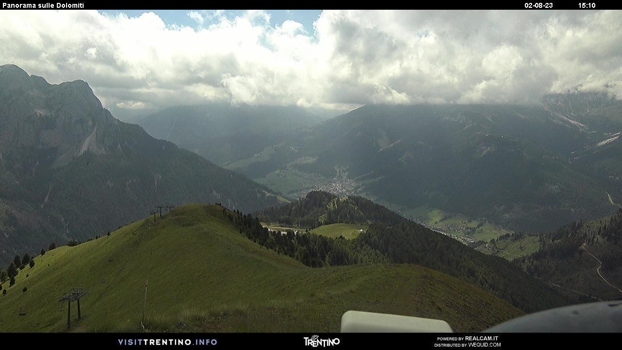Panorama Val di Fassa da Col de Valvacin