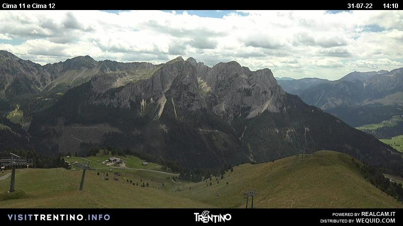 Webcam Pozza di Fassa - Buffaure - Altitude: 2.354 metres<BR>Area: Col de Valvacin <BR>Panoramic viewpoint:&nbsp;