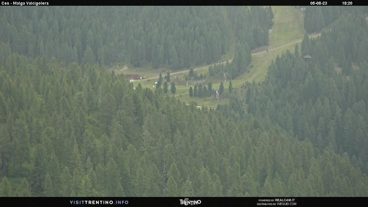Webcam Malga Valcigolera - San Martino di Castrozza, Dolomiti Superski