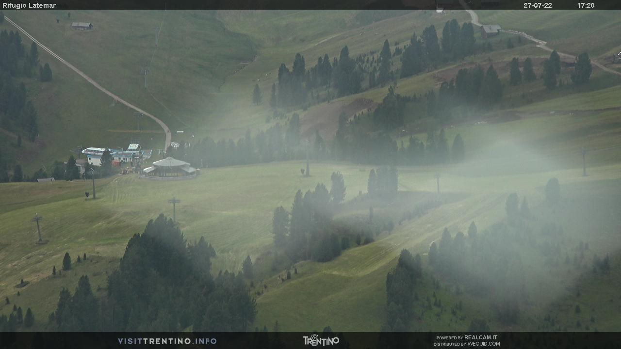 Webcam Rifugio Latemar - Pampeago, Ski Center Latemar - Val di Fiemme,